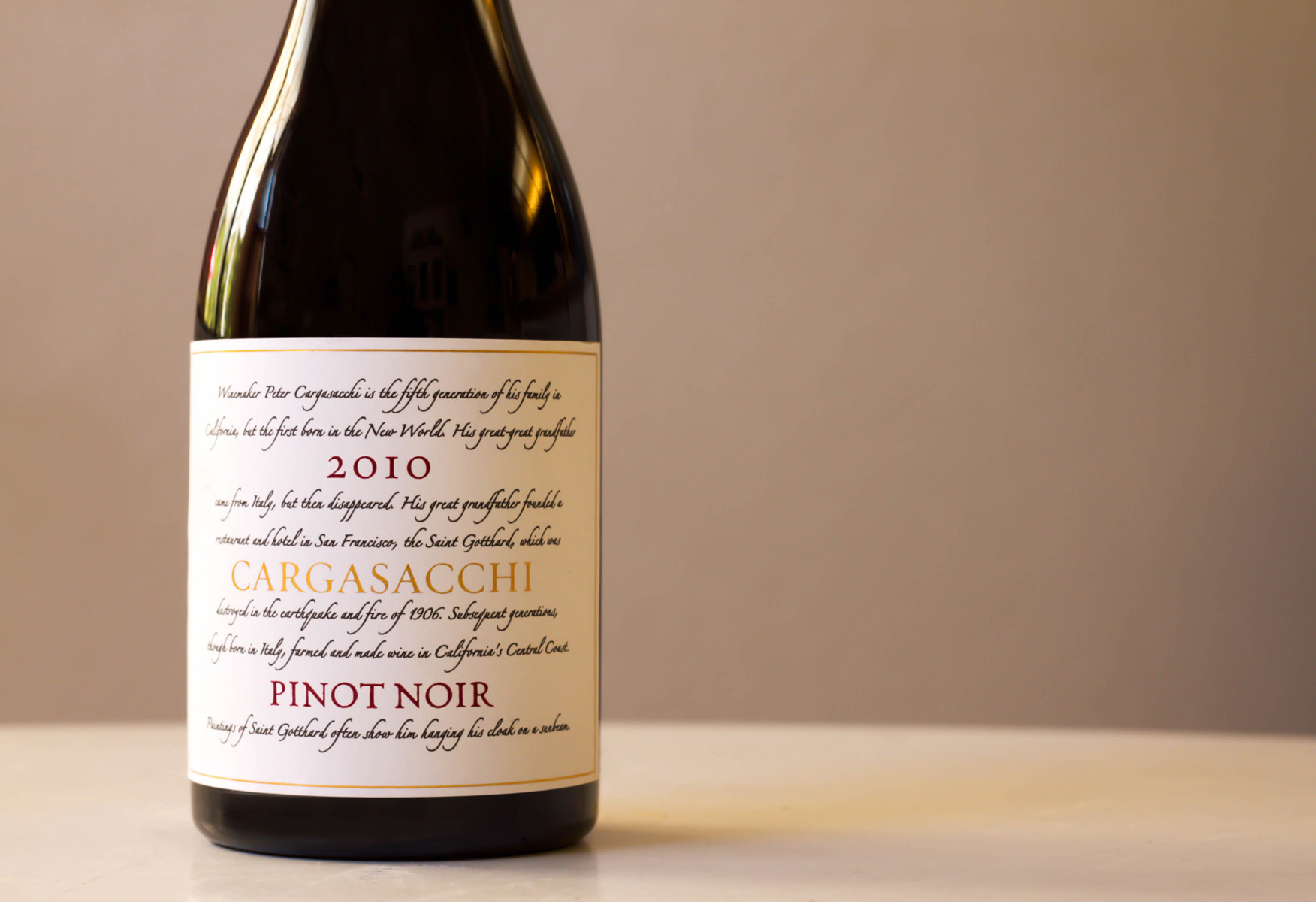 2010 Cargasacchi Pinot Noir Cargasacchi-Jalama Vineyard