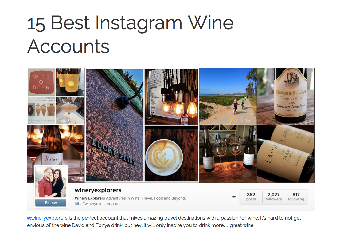 15 Best Instagram Wine Accounts